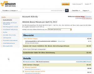 amazon s3 kontoübersicht