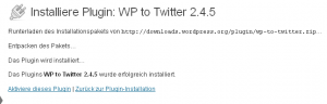 Wordpress to Twitter Plugin installieren