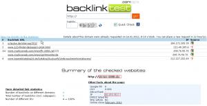 Backlink Test der Webseite