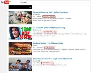 YouTube sortiert seine Videos nicht (nur) anhand der Aufrufen, wie hier eindeutig zu sehen ist.